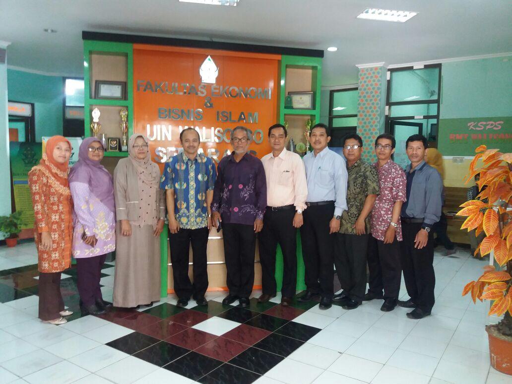 Fakultas Ekonomi Dan Bisnis Islam UIN Walisongo Menerima Kunjungan Rektor Universiti Sultan Azlan Shah (USAS) Malaysia