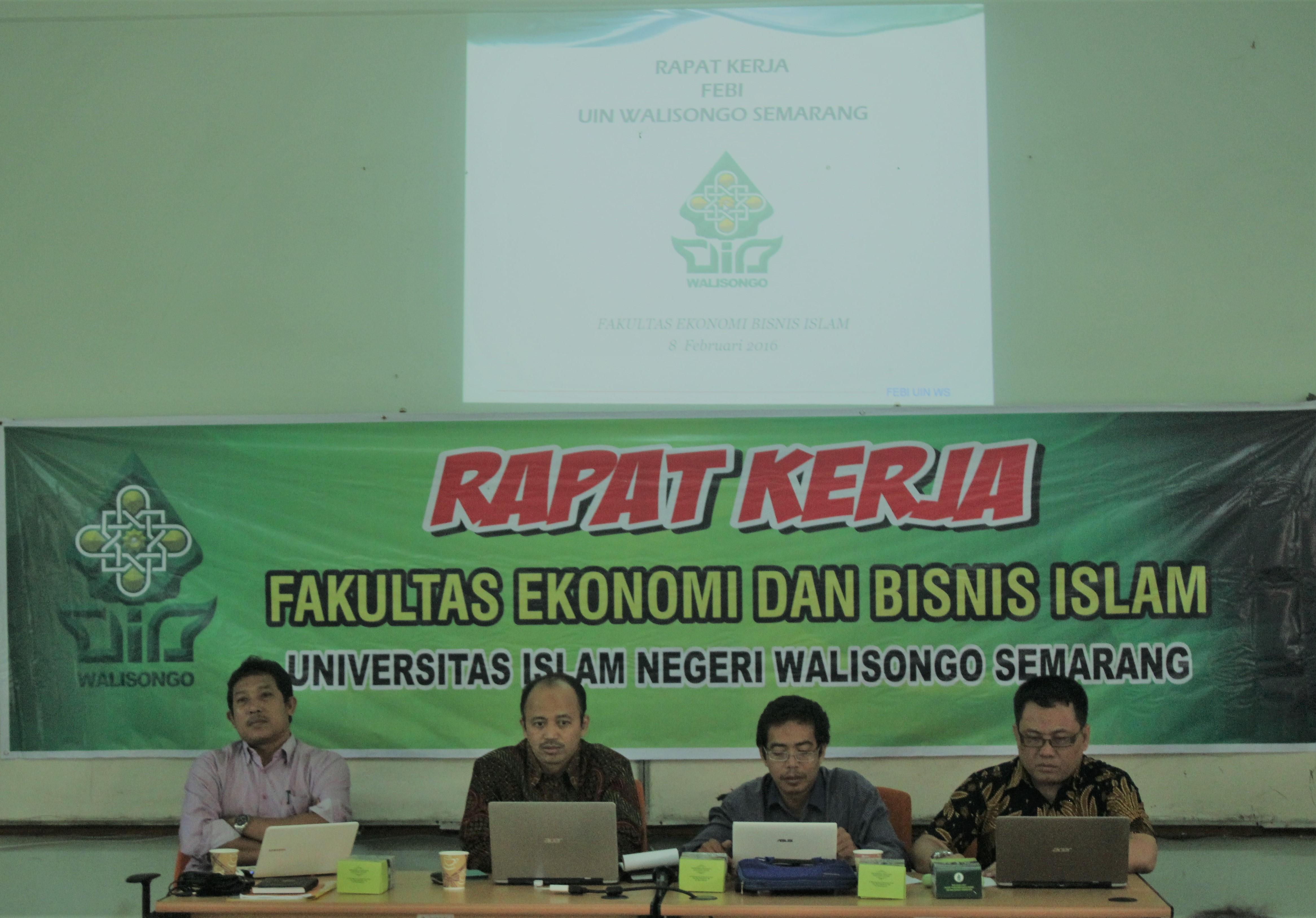 Rapat Kerja  Fakultas Ekonomi Dan Bisnis Islam UIN Walisongo Tahun 2018