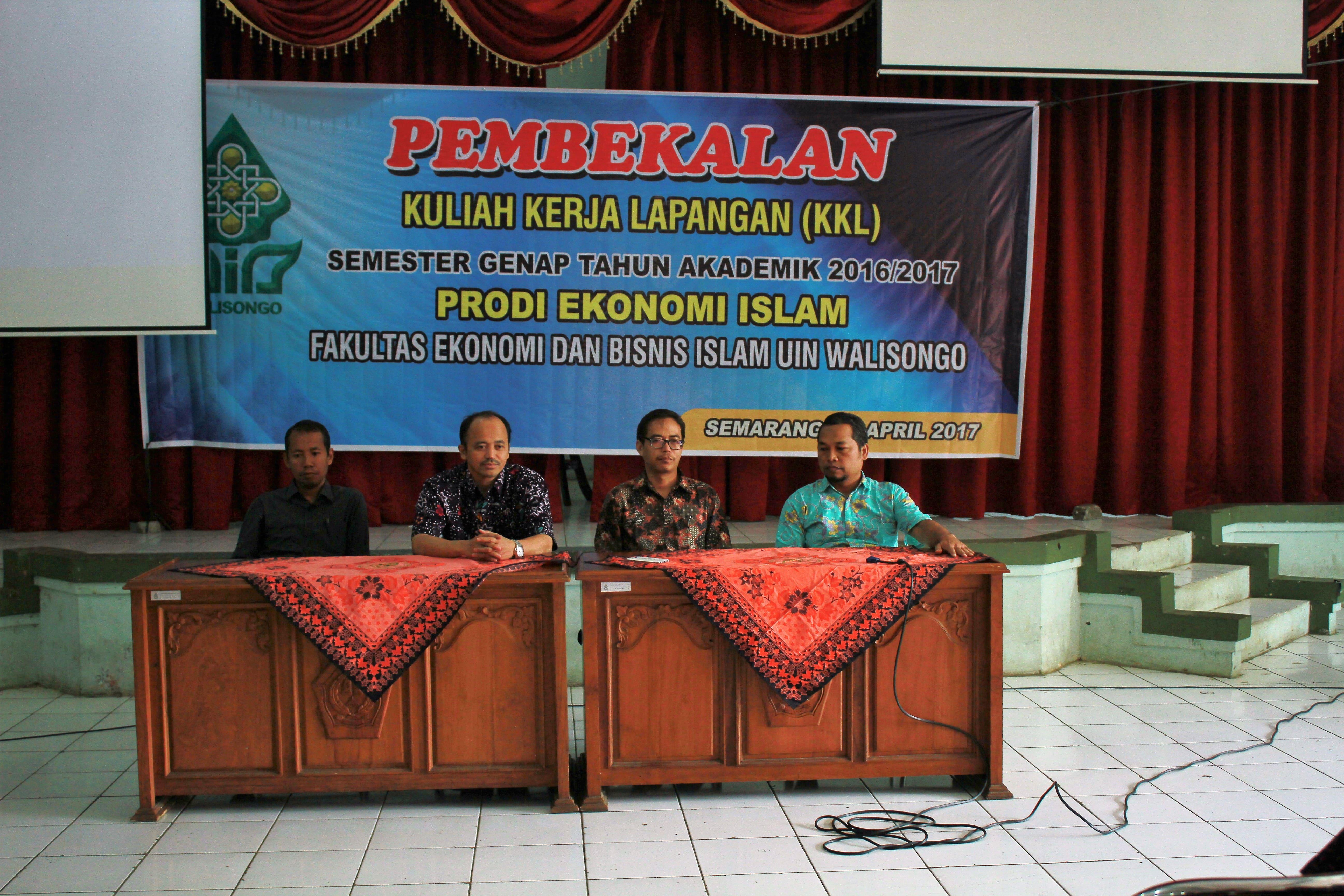 Prodi S1 Ekonomi Islam FEBI UIN Walisongo  Menyelenggarakan Kegiatan  Pembekalan KKL