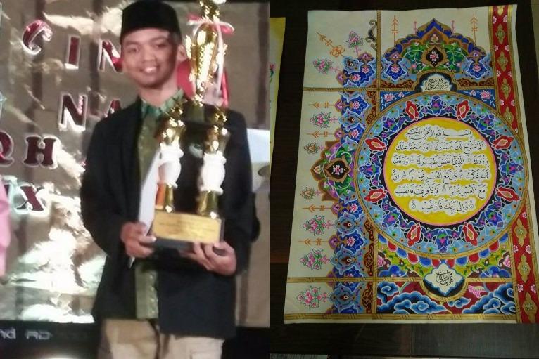 Mahasiswa FEBI UIN Walisongo Juara 1 Lomba Kaligrafi Tingkat Nasional