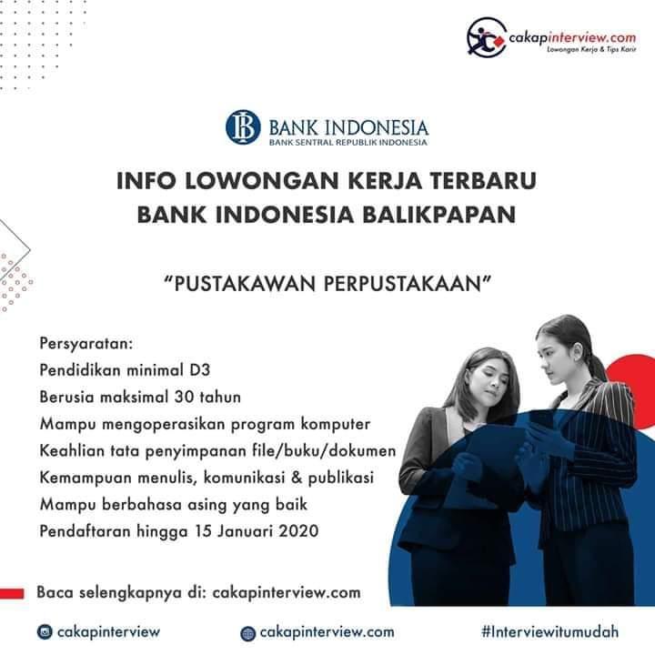 Lowongan Bank Indonesia Balikpapan