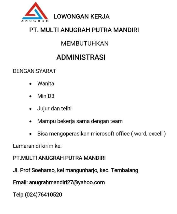 Lowongan Accounting PT Anugrah