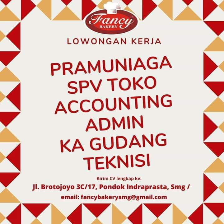 Lowongan Accounting Fancy Bakery