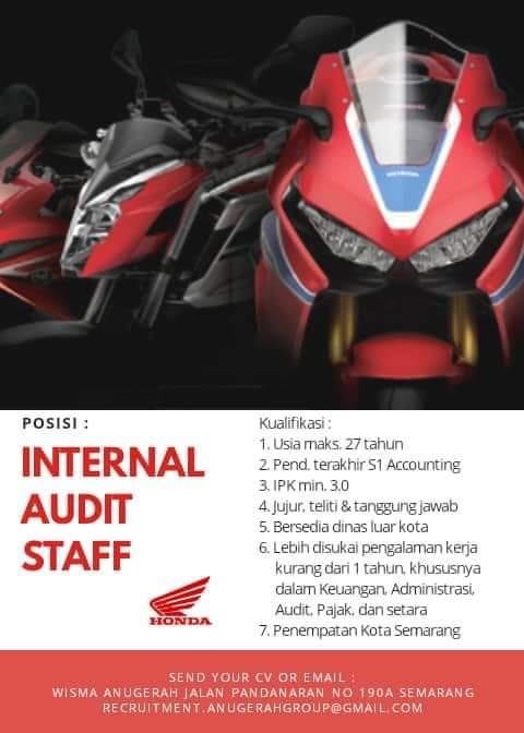 Lowongan Internal Audit