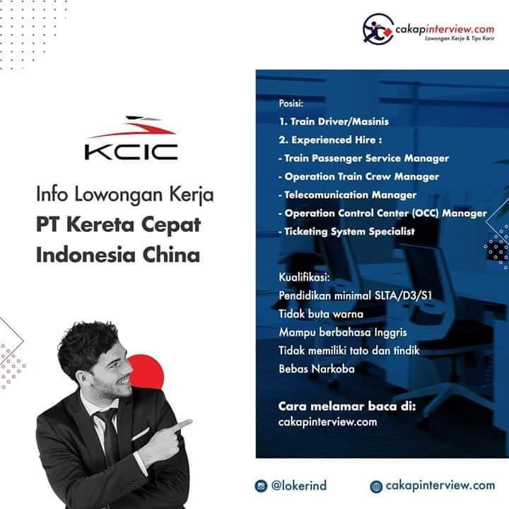 Loker kereta api Indonesia China