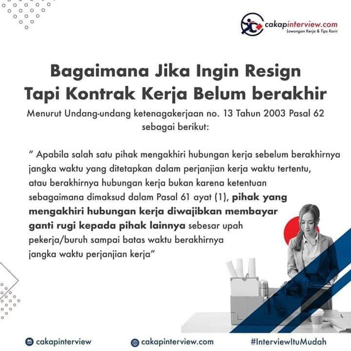 Resign sebelum berakhir kontrak