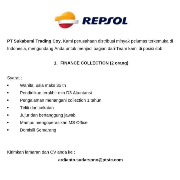 Loker Akuntansi finance repsol