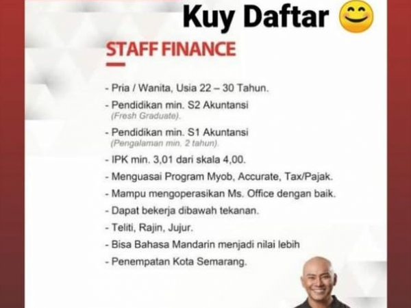 Karir Akuntansi staff finance
