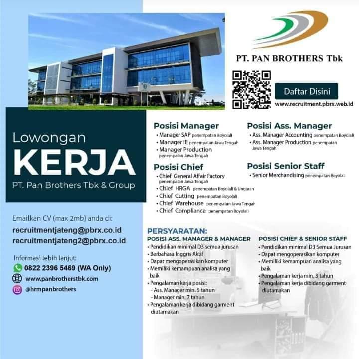 Karir Akuntansi - Accounting PT PAN Brother Tbk