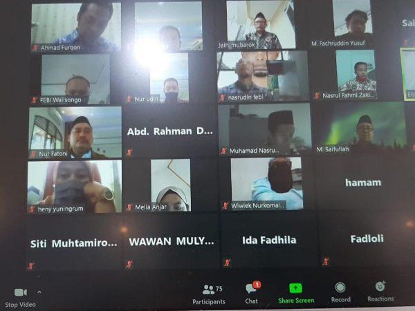 """FEBI UIN Walisongo Gelar Webinar Guest Lecture: """"Arah Baru Ekonomi Indonesia: dari fiqih ke Praktik Bank Syariah"""""""
