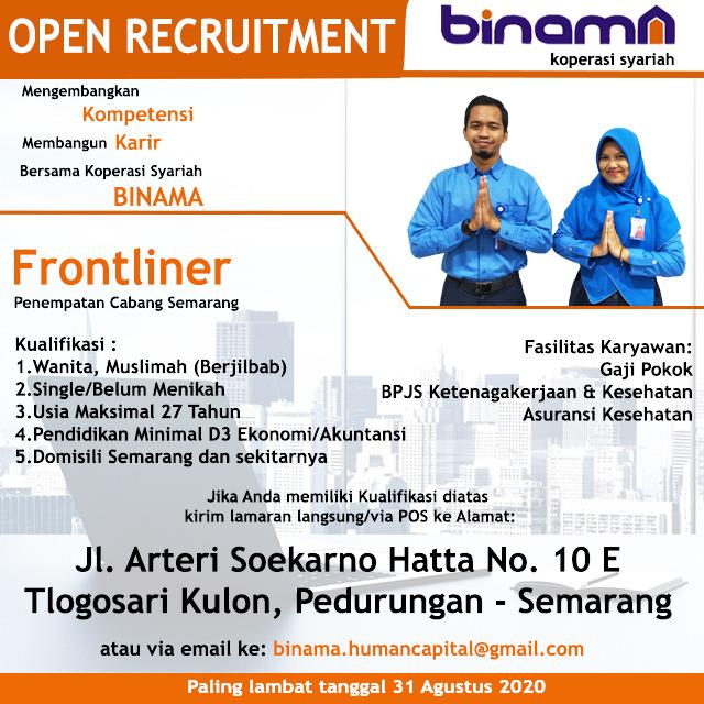 Karir Akuntansi - Frontliner Binama
