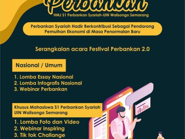 Penutupan Sekaligus Pengumuman Pemenang Lomba Festival Perbankan HMJ S1 Perbankan Syariah Adakan Webinar Inspiring