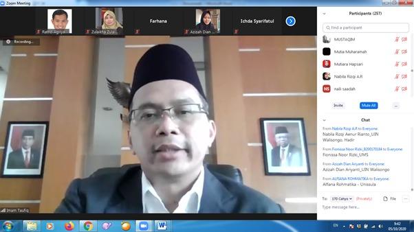 Rektor dan Dekan berpantun dalam acara pelantikan Tax Center UIN Walisongo Semarang