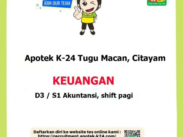 Karir Akuntansi - Keuangan - Apotek K-24 Tugu Macan Citayam