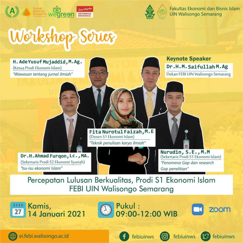Prodi Ekonomi Islam Selenggarakan Workshop Penyusunan Skripsi Yang Berkualitas Fakultas Ekonomi Dan Bisnis Islam