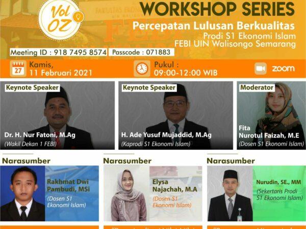 Workshop Percepatan Lulusan S1 Ekonomi Islam, Karya Ilmiah Mengandung Nilai-Nilai Syariah